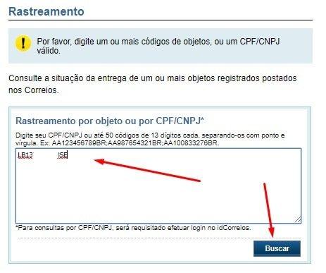 rastrear AliExpress Standard Shipping nos correios do Brasil