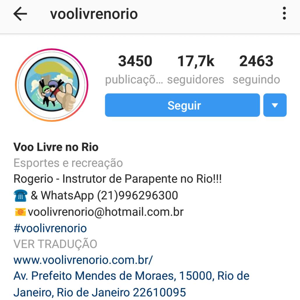 exemplo bio instagram